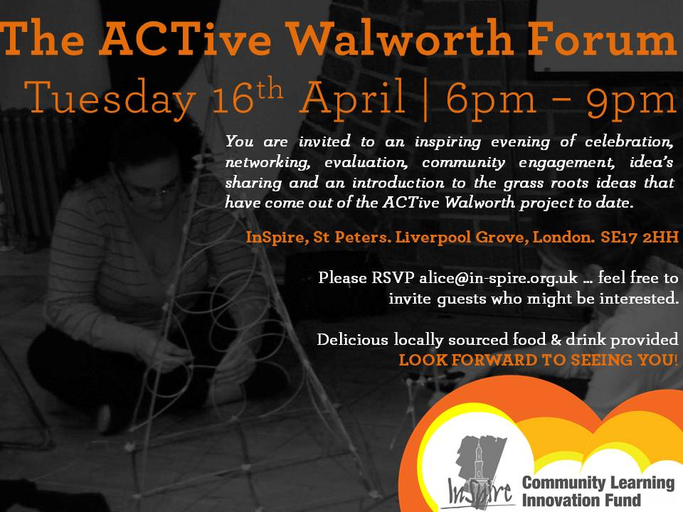 ACTive Walworth forum invite