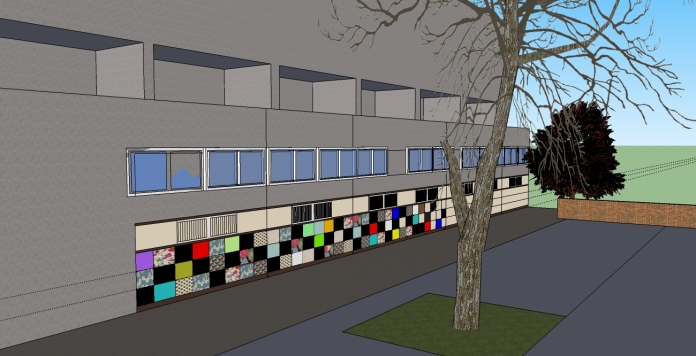 Community artwork project on Northchurch block1