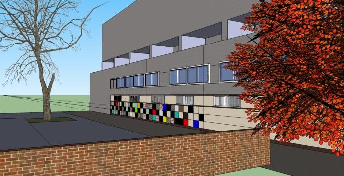 Community artwork project on Northchurch block2