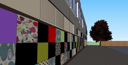 Community artwork project on Northchurch block3